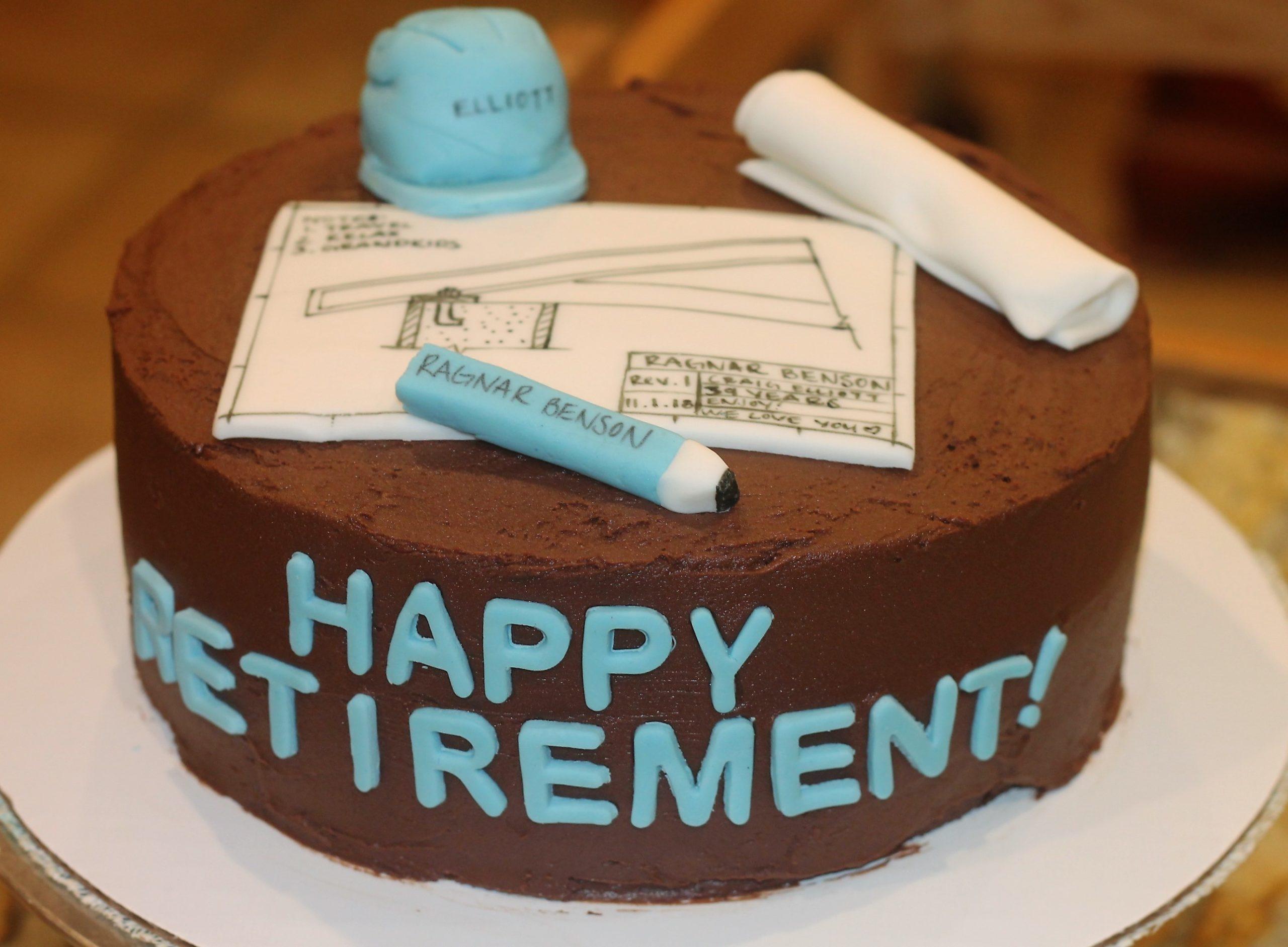 Retirement Cake Sweet Smorgasbord